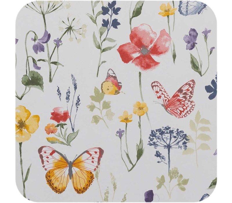 Tafelzeil - 140 x 250 cm - Vlinders - wit