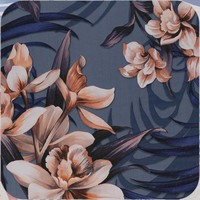 Tafelzeil - 140 x 250 cm - Hibiscus - Blauw