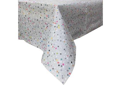 MixMamas Tafelkleed Gecoat Stippen Granito - 140 x 250 cm - Multicolor