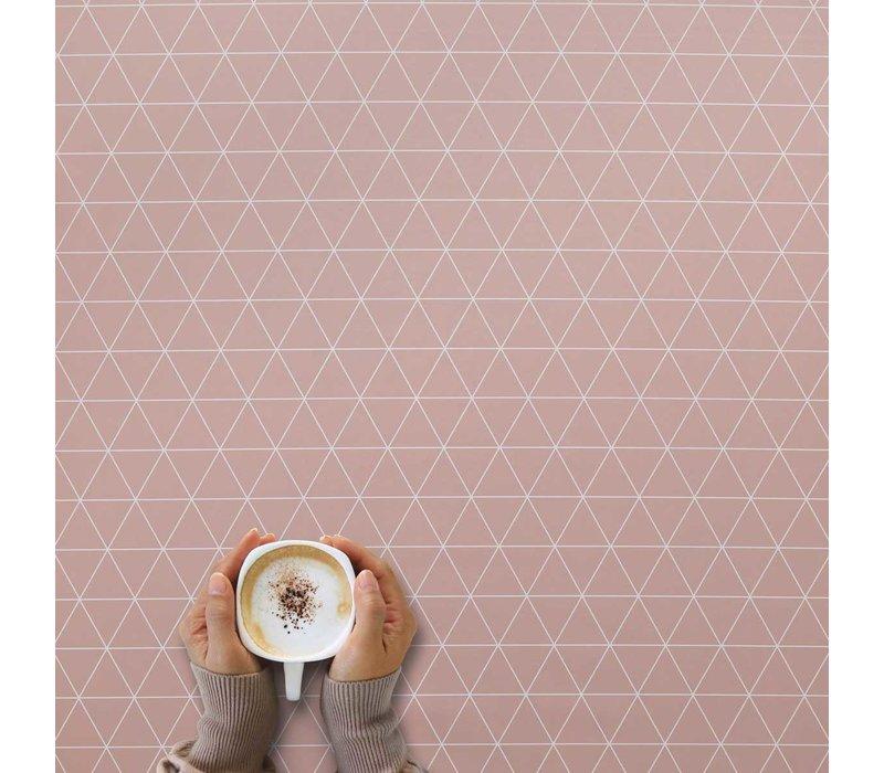 Tafelzeil - 140 x 250 cm - Grafische print terra - roze