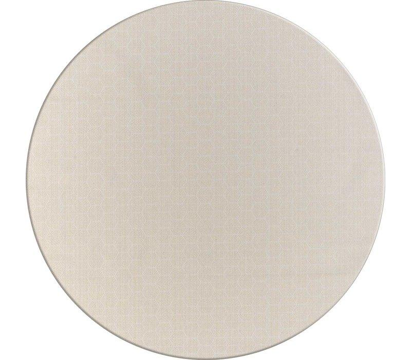 Rond Tafelkleed Gecoat Jacquard - Ø 160 cm – Striped Hexagon - Beige/Goud