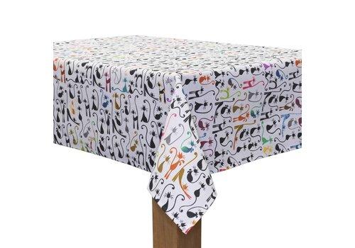MixMamas Tafelkleed Gecoat - 140 x 250 cm - Katten