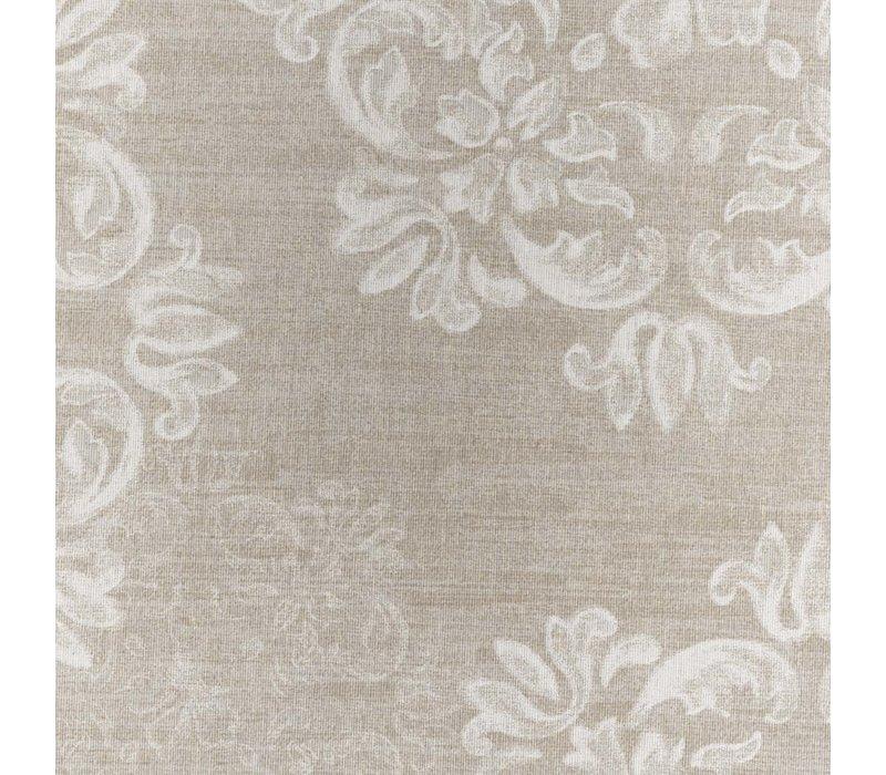 Tafelkleed Gecoat Krijtbloem- 140 x 250 cm - Beige