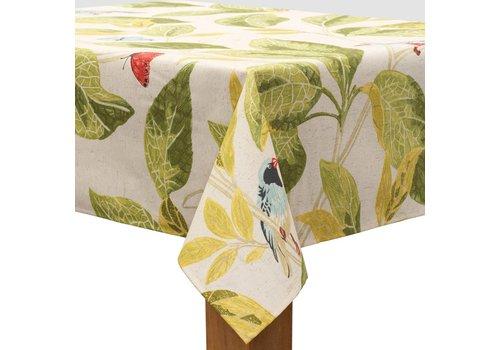 MixMamas Tafelkleed Gecoat Tropische Vogels - 140 x 250 cm