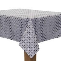 Rond Tafelkleed Gecoat - Ø 180 cm – Rondjes Vierkantjes - Grijs