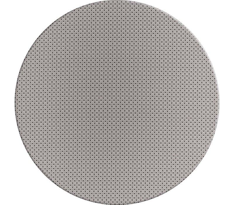 Rond Tafelkleed Gecoat - Ø 140 cm – Rondjes en Vierkantjes – Grijs