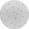 MixMamas  Tafelkleed Gecoat - Ø 140 cm – Hexagon Accent – Grijs