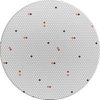 Tafelkleed Gecoat - Ø 140 cm – Hexagon Accent – Grijs