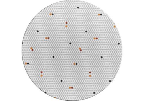 MixMamas Rond Tafelkleed Gecoat - Ø 140 cm – Hexagon Accent – Grijs