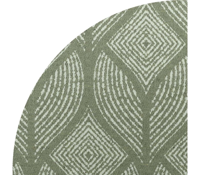 Rond Tafelkleed Gecoat Jacquard- Ø 160 cm – Ogee - Groen / Grijs