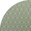 MixMamas Rond Tafelkleed Gecoat Jacquard- Ø 180 cm – Ogee - Groen / Grijs