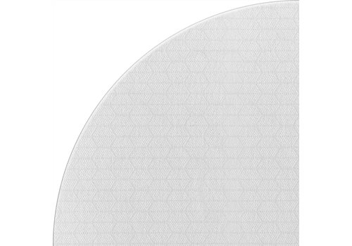 MixMamas Rond Tafelkleed Gecoat Jacquard - Ø 140 cm – Striped Hexagon - Wit