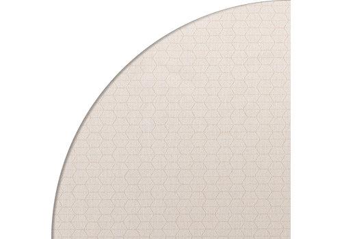 MixMamas Rond Tafelkleed Gecoat Jacquard - Ø 160 cm – Striped Hexagon - Beige