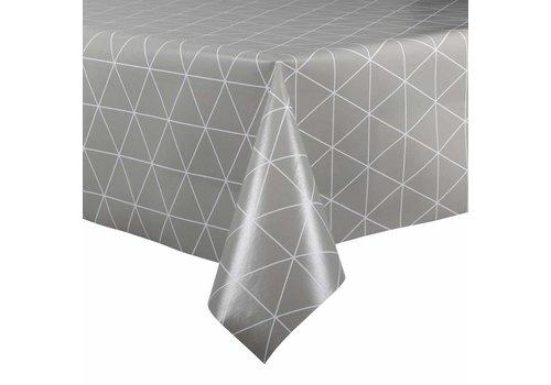 MixMamas Tafelzeil - 140 x 200 cm - Grafische print - grijs