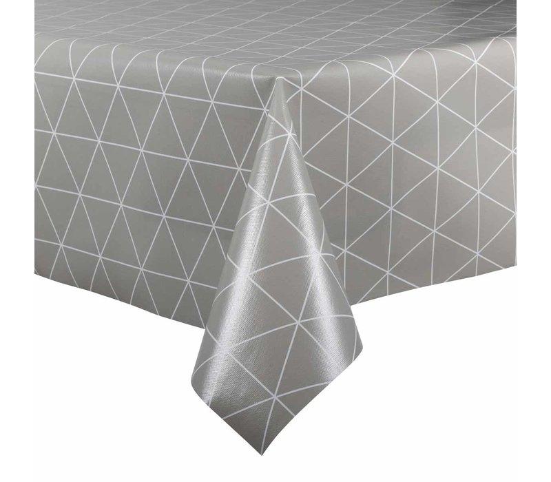 Tafelzeil - 140 x 200 cm - Grafische print - grijs