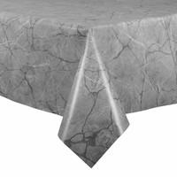 Tafelzeil - 140 x 250 cm - Marmer - lichtgrijs