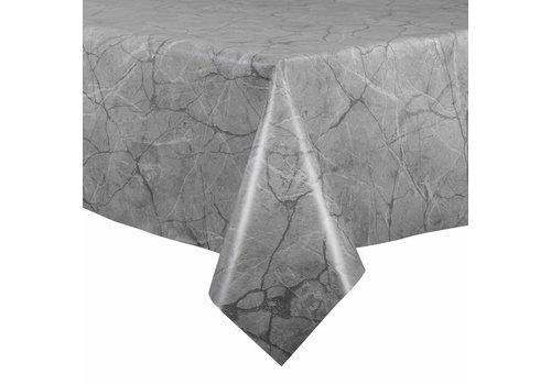MixMamas Tafelzeil - 140 x 250 cm - Marmer - lichtgrijs