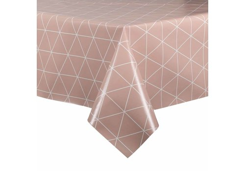 MixMamas Tafelzeil - 140 x 250 cm - Grafische print terra - roze