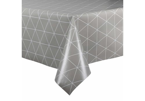MixMamas Tafelzeil - 140 x 250 cm - Grafische print - grijs