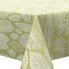 MixMamas Tafelkleed Gecoat Jacquard Tropische Bladeren  – 140 x 250 cm –  Groen