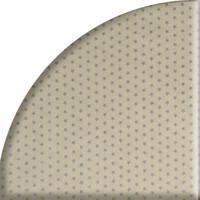 Rond Tafelkleed Gecoat Jacquard - Ø 160 cm - Sterren Wit/Zilver