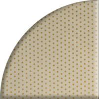 Rond Tafelkleed Gecoat Jacquard - Ø 160 cm - Sterren Wit/Goud