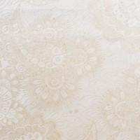 Tafelkleed Gecoat Jacquard Linnen Paisley - 140 x 250 cm - Beige