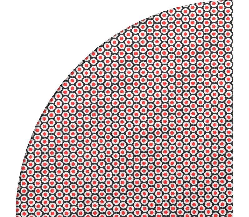Rond Tafelzeil - Ø 140 cm - Oogjes - Zwart/Rood