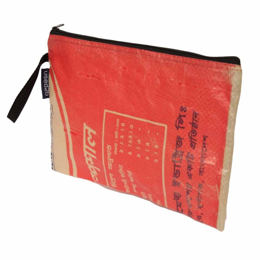 Used2b Document wallet made from upcycled cement bags Taka 3 red