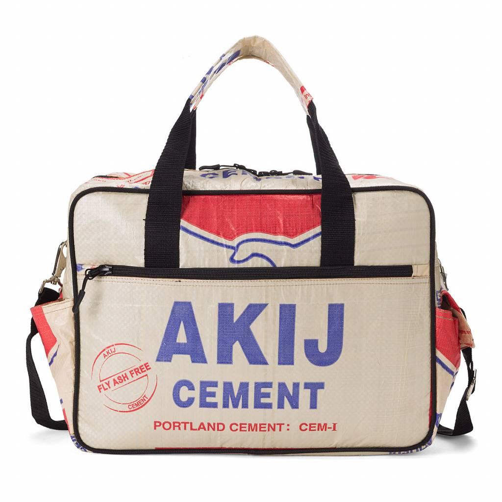 Used2b Ruige schooltas gemaakt van cementzakken Akij