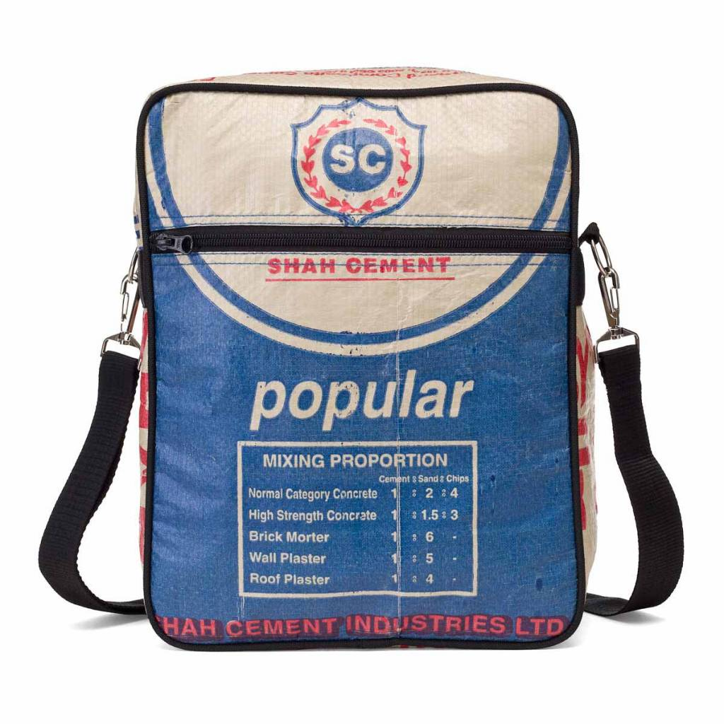 Used2b Messenger M flap over cement bags Shah blue