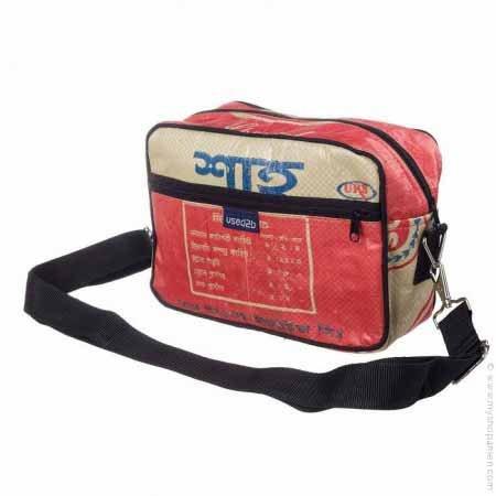 Used2b Stoer schoudertasje Post it cementzakken rood
