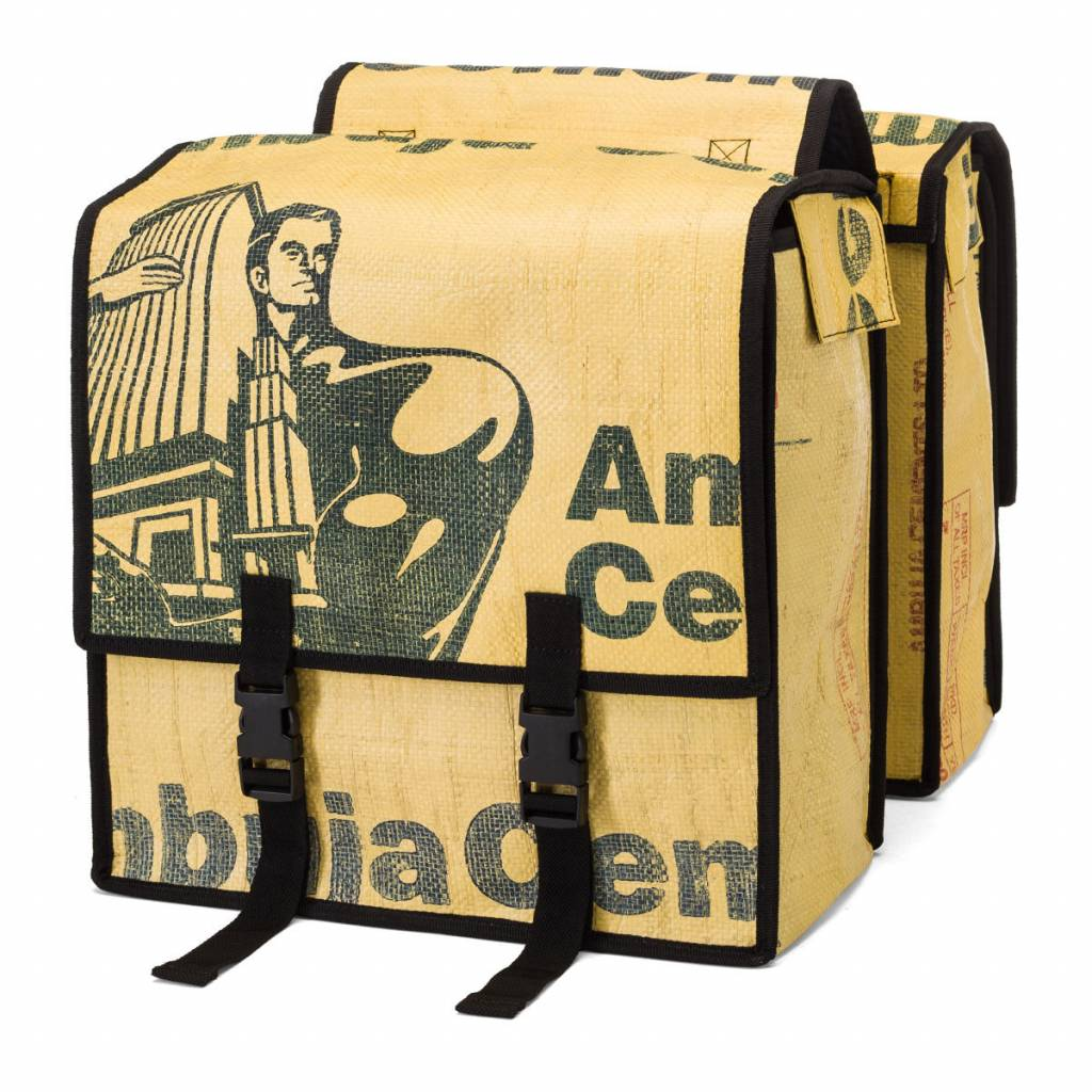 Used2b Double pannier bags Upcycled from Cement bags, muscles