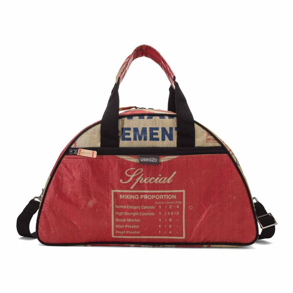 Used2b Hippe schoudertas Gym gemaakt van Cement rood