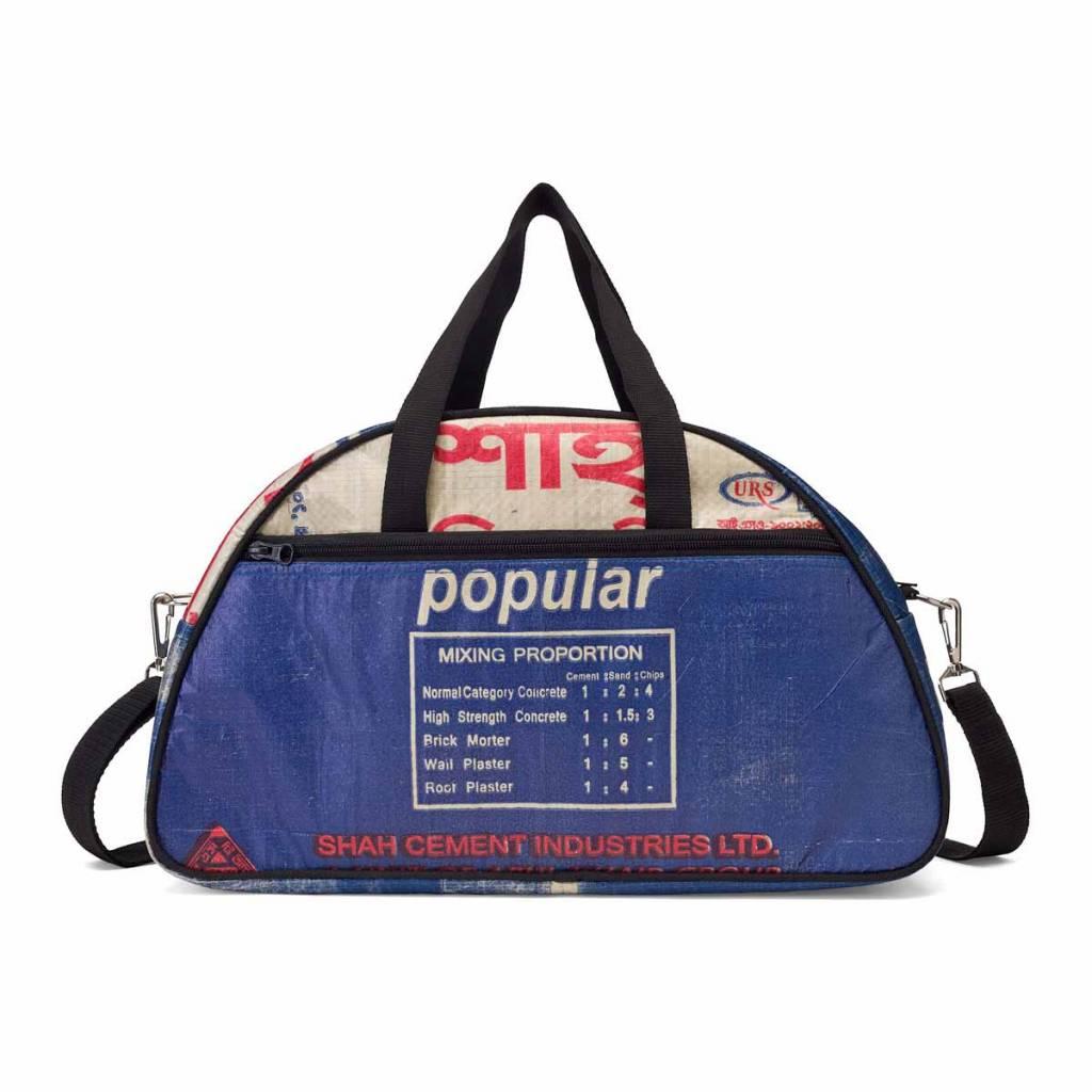Used2b Hippe schoudertas Gym gemaakt van Cement blauw