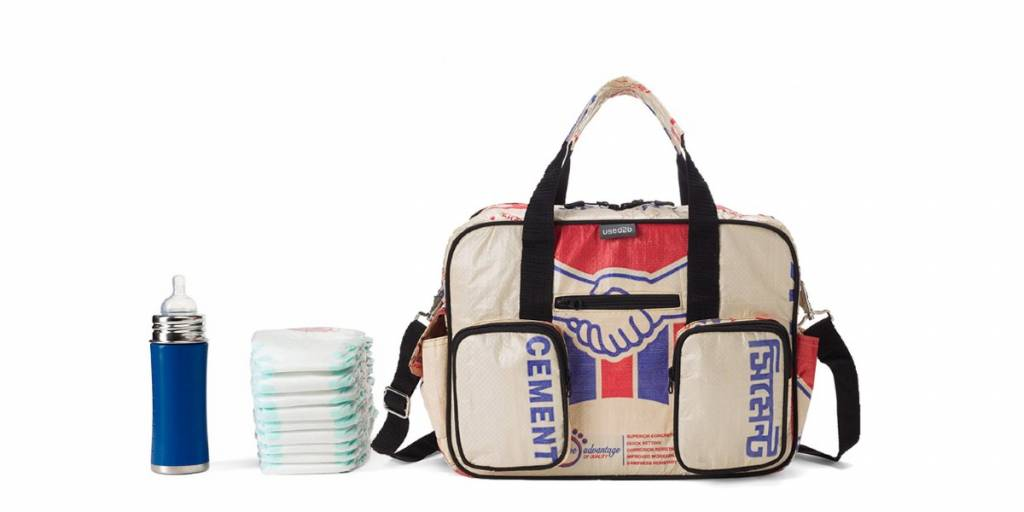 Used2b Diaper bag upcycled cement bags Akij