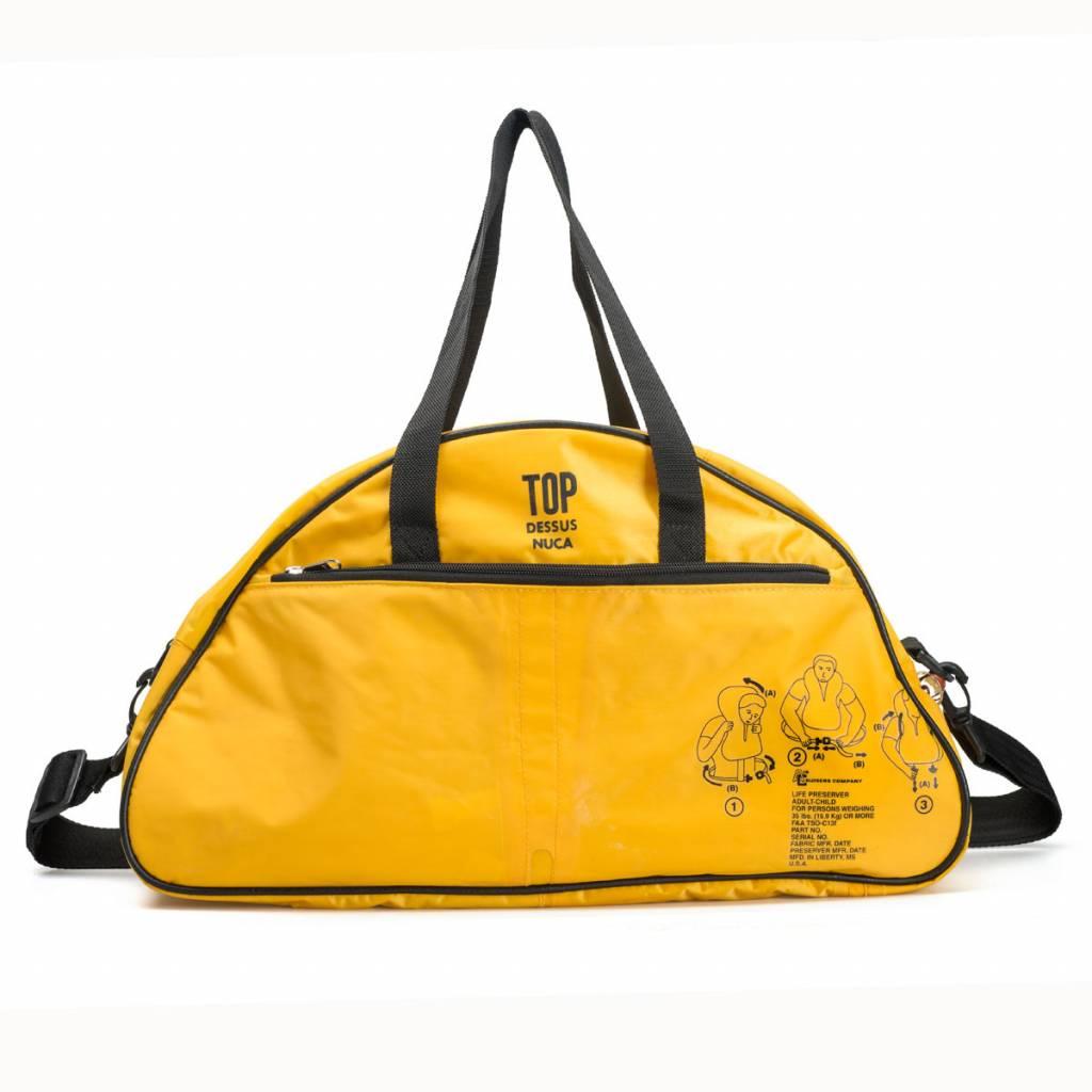 Used2b Gym upcycled life jackets yellow