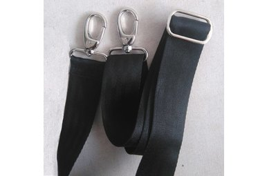 Shoulder strap recycled seat belts
