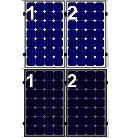 Clickfit Evo EVO Set 1 rij van 2 zonnepanelen portrait