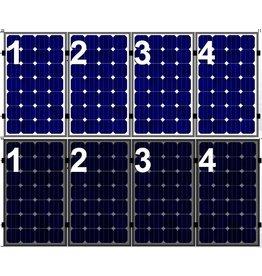 Clickfit Evo EVO Set 1 rij van 4 zonnepanelen portrait