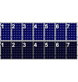Clickfit Evo EVO Set 1 rij van 7 zonnepanelen portrait