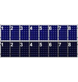 Clickfit Evo EVO Set 1 rij van 8 zonnepanelen portrait