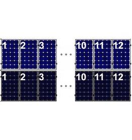 Clickfit Evo EVO Set 1 rij van 12 zonnepanelen portrait