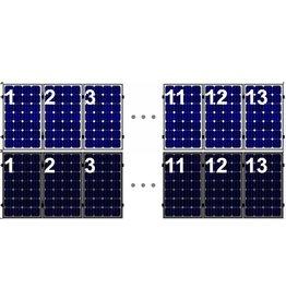 Clickfit Evo EVO Set 1 rij van 13 zonnepanelen portrait