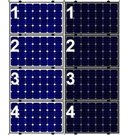 Clickfit Evo EVO Set 1 kolom van 4 zonnepanelen landscape