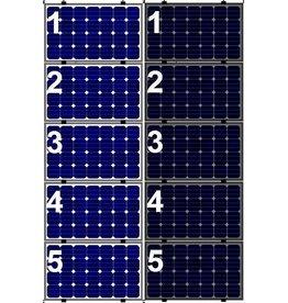 Clickfit Evo EVO Set 1 kolom van 5 zonnepanelen landscape