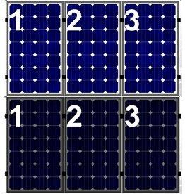 Clickfit Set 1 rij van 3 zonnepanelen portrait staaldak