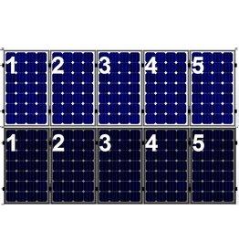 Clickfit Set 1 rij van 5 zonnepanelen portrait staaldak