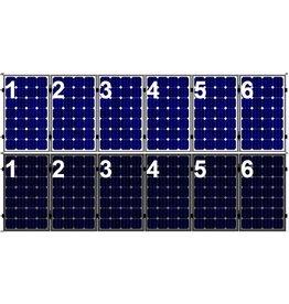 Clickfit Set 1 rij van 6 zonnepanelen portrait staaldak