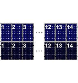 Clickfit Set 1 rij van 14 zonnepanelen portrait staaldak